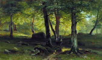 Ivan Ivanovich Shishkin. In the grove
