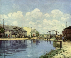 Alfred Sisley. The Canal Saint-Martin