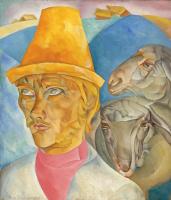 Борис Дмитриевич Григорьев. Пастух в горах (Клюев-пастырь)