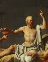 Jacques-Louis David. The Death Of Socrates. Fragment