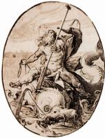 """Хендрик Гольциус. Серия """"Античные боги""""[01], Нептун"""