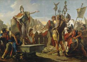 Джованни Баттиста Тьеполо. Королева Зенобия обращается к своим солдатам