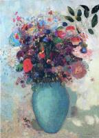 Одилон Редон. Цветы в голубой вазе