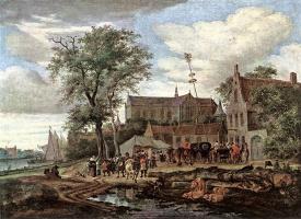 Саломон Якобс ван Рейсдал. Таверна с майским деревом