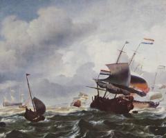 Ludolf Buckheisen. Ships in a storm