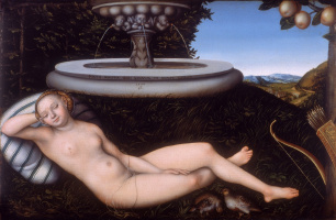 Лукас Кранах Старший. Нимфа у фонтана