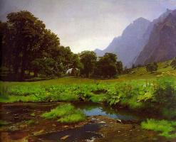 Рудольф Коллер. Горный пейзаж