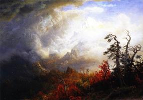 Альберт Бирштадт. Осенний пейзаж перед штормом