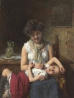 Алексей Алексеевич Харламов Россия 1840 - 1923. Недовольная девочка.