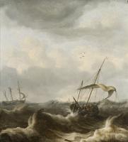 Ян Порселлис. Две лодки в шторм