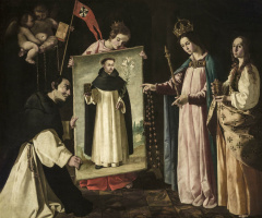 Francisco de Zurbaran. The appearance of the virgin to the monk of Soriano