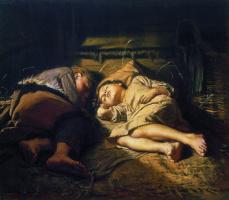 Василий Григорьевич Перов. Спящие дети