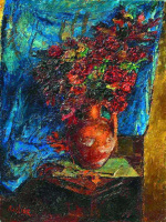 Давид Давидович Бурлюк. Цветы в вазе