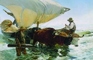 Хоакин Соролья (Соройя). Возвращение с рыбалки