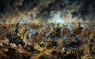 Aleksandr Yurievich Averyanov. Attack of the little Russian cuirassier regiment