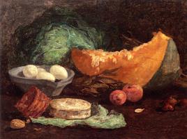 Эжен Буден. Натюрморт с яйцами и тыквой