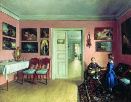 "Ivan Fomich (Trofimovich) Khrutsky. In the rooms of the estate of the artist by I. F. Khrutsky ""Zahranici"""