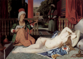 Jean Auguste Dominique Ingres. Odalisque and slave