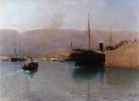 Lev Feliksovich Lagorio. Yalta. Steamer stick