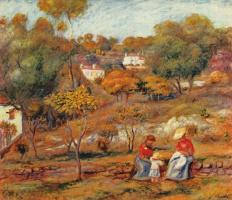 Пьер Огюст Ренуар. Пейзаж близ Каня