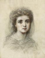 Федор Петрович Чумаков. Молодая  девушка.