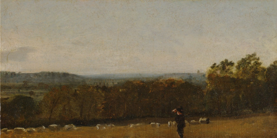 John Constable. A shepherd in a landscape looking across Dedham Valley to Langham. Yale Center for British Art, New Haven.