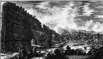 Джованни Баттиста Пиранези. Руины Пойкиле [входного портика] и преторианских казарм на вилле Адриана