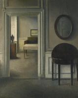 Вильгельм Хаммерсхёй. Интерьер с зеркалом