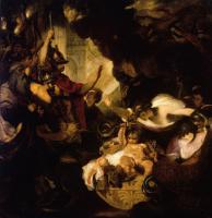 Младенец Геркулес, удушающий змей, подосланных Герой