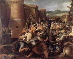 Чезари Джузеппе (Кавалер д'Арпино). Св. Клэр со сценой осады Ассизи