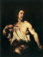 Бернардо Строцци. Давид с головой Голиафа