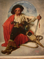 "Норман Роквелл. Пират, мечтающий о доме. Обложка журнала ""The Saturday Evening Post"" (30 августа 1924 года)"