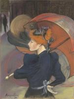 Луи Анкетен. Женщина с зонтиком. 1890
