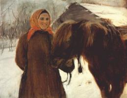 Валентин Александрович Серов. Крестьянка с лошадью