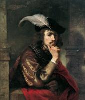 Фердинанд Балтасарс Боль. Портрет молодого человека в берете с пером