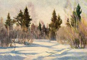 Никифор Степанович Крылов. Мартовское утро в лесу