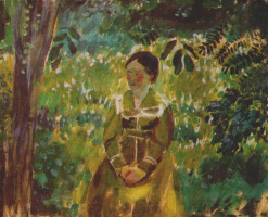 Victor Elpidiforovich Borisov-Musatov. The woman in the garden