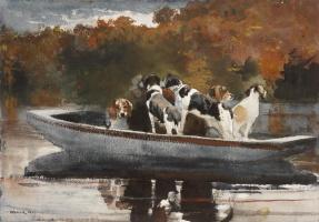 Уинслоу Хомер. Собаки в лодке