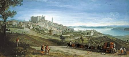 Paul Brill. View Of Bracciano. 1620-e