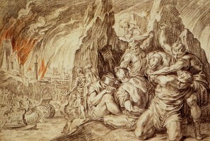 Тхулден,  Тхеодур  Ван Тхулн. Греки покидают Трою после пожара
