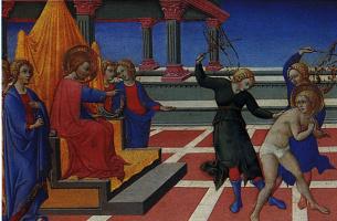 Сано Ди Пьетро. Сон Святого Иеронима о наказании его Христом