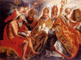 Якоб Йорданс. Четыре отца латинской Церкви