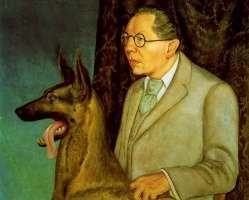 Отто Дикс. Уго Эрфурт с собакой
