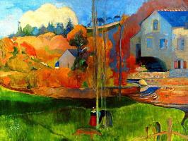 Paul Gauguin. Breton landscape. Mill David
