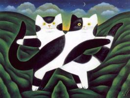 Мартин Леман. Черно-белые коты
