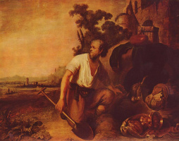 Рембрандт Харменс ван Рейн. Притча о зарывшем сокровища