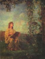Джон Лафарг. Сидящая фигура в желтом