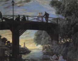 Boris Mikhailovich Kustodiev. Bridge. Astrakhan