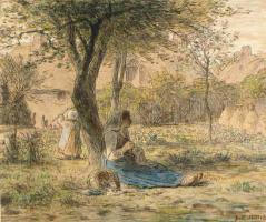Жан-Франсуа Милле. В саду
