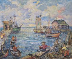 David Davidovich Burliuk. The sea Marina